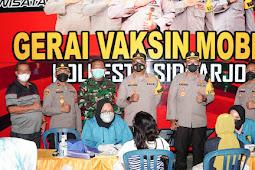 Kapolresta Sidoarjo di Tambak Oso, Capaian Vaksinasi Kita Sudah 60 Persen