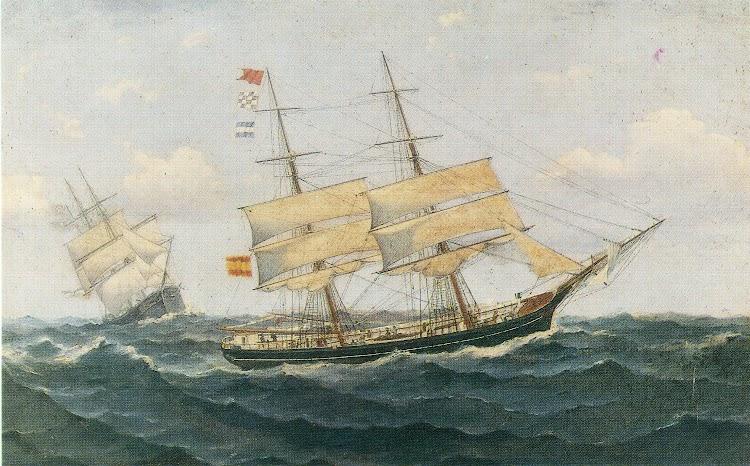 Salvamento de la ELEZE METZLER. Oleo de Montgay. Carme Maciá i Casals. La Marina Mercant de Lloret de Mar. Segles XVIII y XIX.jpg