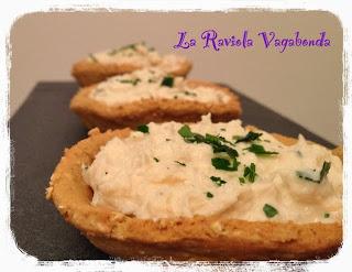 crostatine rustiche con crema di granchio dukan friendly