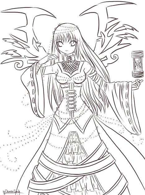Devil Girl Sketch Great Ink Pinterest Girl Sketch Sketches Source  Demon  Color Sheet