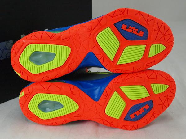 Nike LeBrons Ambassador 7 in Grey Blue Orange and Volt