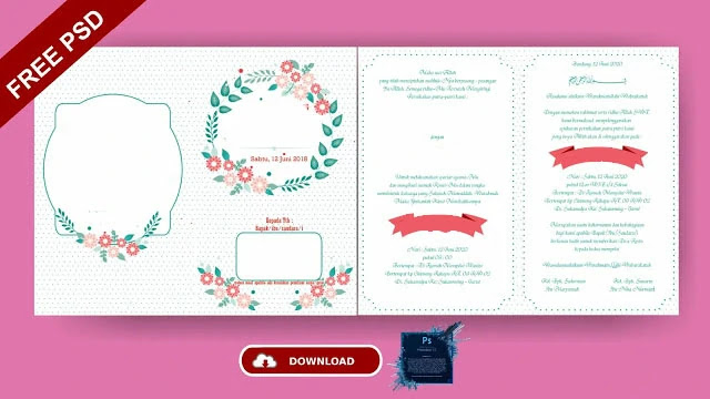 Download 10+ Template Undangan Pernikahan Photoshop