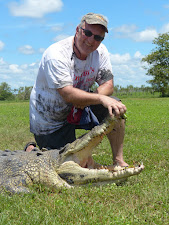 Mr Taylor, from the USA, with a nice 13 foot croc, during March