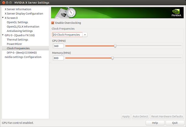 Overclock на Quadro FX 550 в Ubuntu 14.04