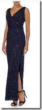 JS Collections long sequined gown