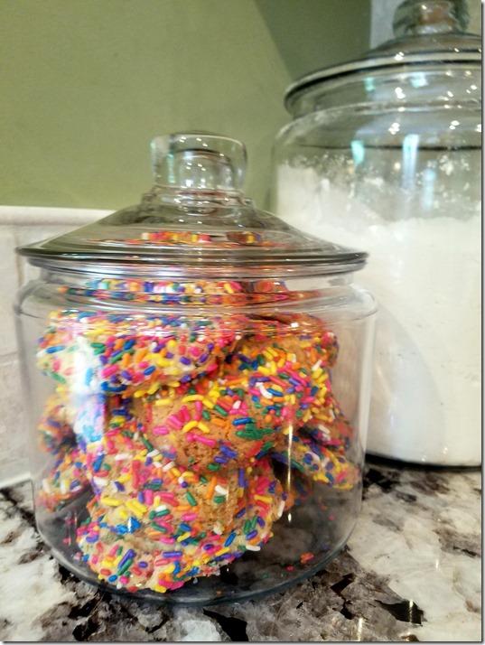 Confetti Cookies in Jar