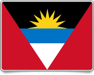 Antiguan framed flag icons with box shadow