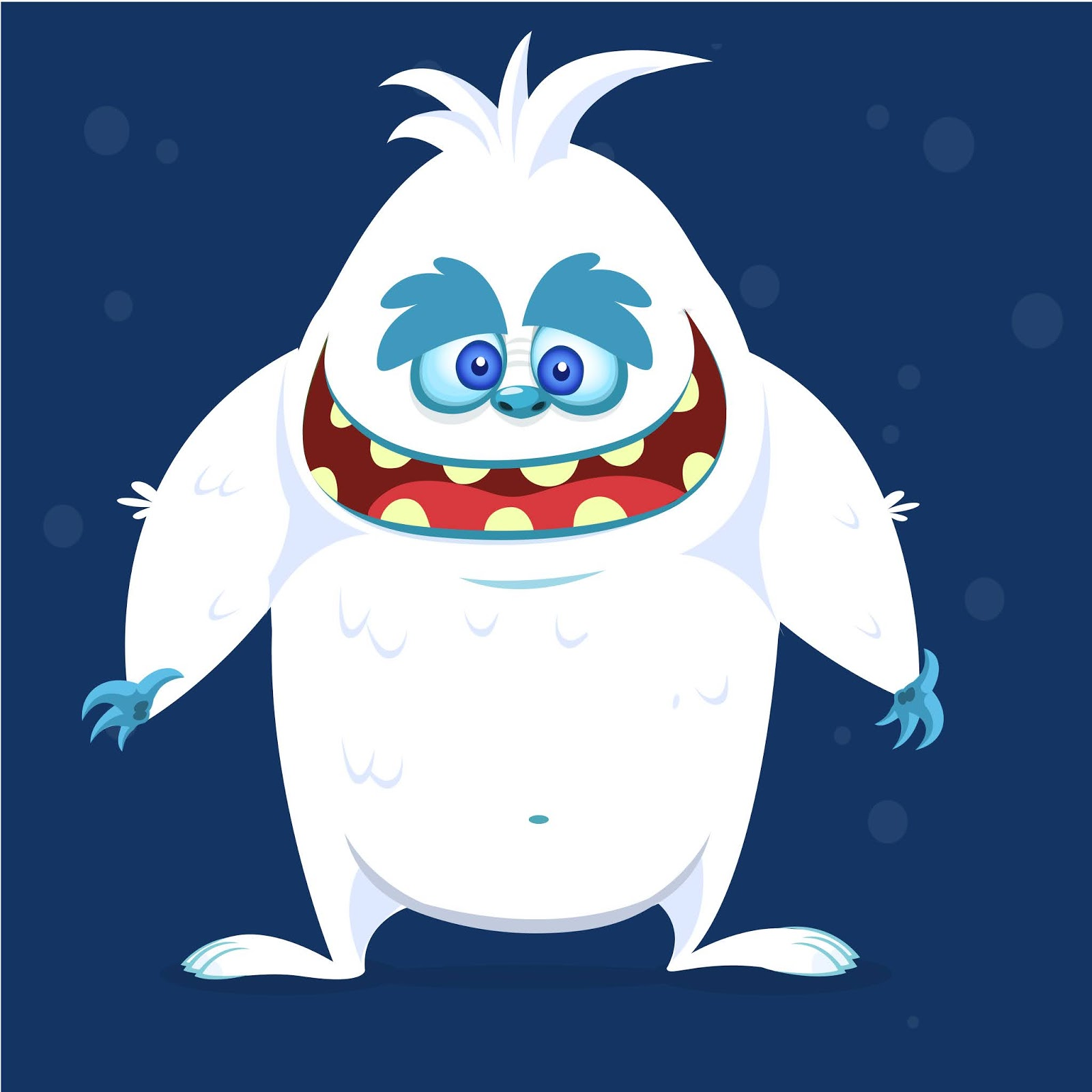 Happy Cartoon Monster Yeti Bigfoot Free Download Vector CDR, AI, EPS and PNG Formats