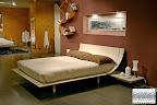 letto Aqua Presotto laccato corda con comodini a mensola,nella nostra esposizione a Zogno Bergamo