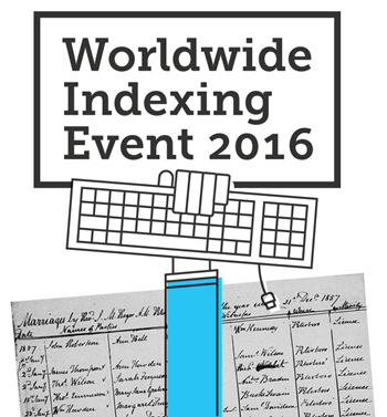 FamilySearch Worldwide Indexing Event 2016