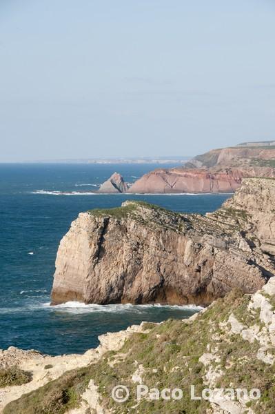 Cliffs next to Cape St. Vincent