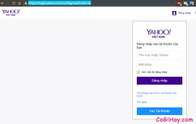 Trang đăng nhập Yahoo Mail