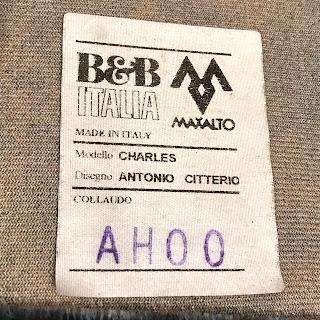 B&B Italia + Antonio Citterio Charles Two-Piece Mohair Sofa