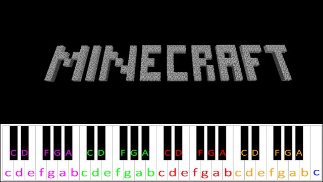 Calm 1 (Minecraft) ~ Piano Letter Notes