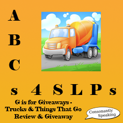 ABCs 4 SLPs: G is for Giveaways - Trucks & Things That Go Review and Giveaway image