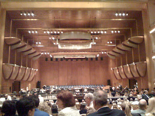 At the Avery Fisher Theater in Lincoln Center