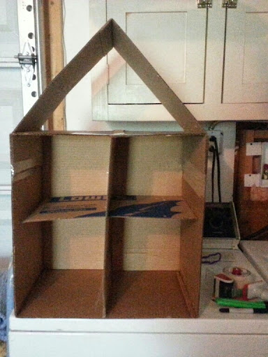 how to make a dollhouse out of a box