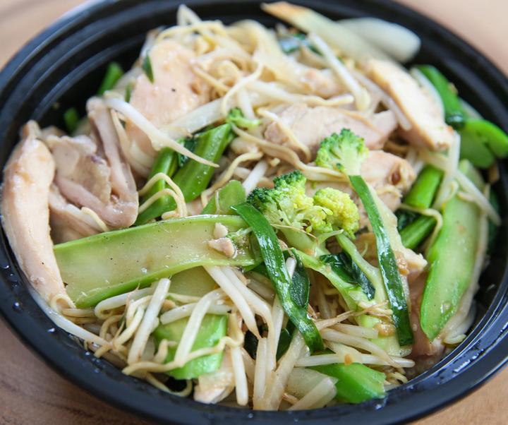 close-up photo of Garlic Noodles
