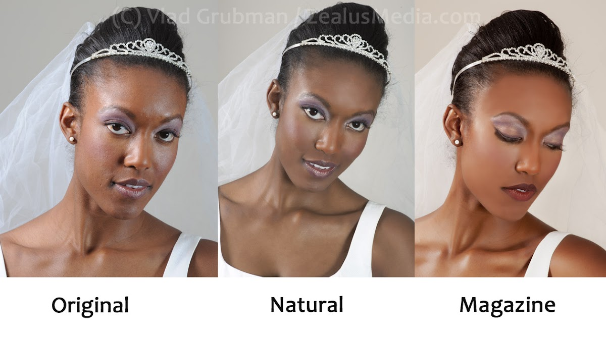 Original look, edited for natural look and edited for magazine - photos by ZealusMedia