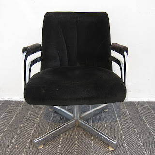 Chromecraft Velvet Armchair #1