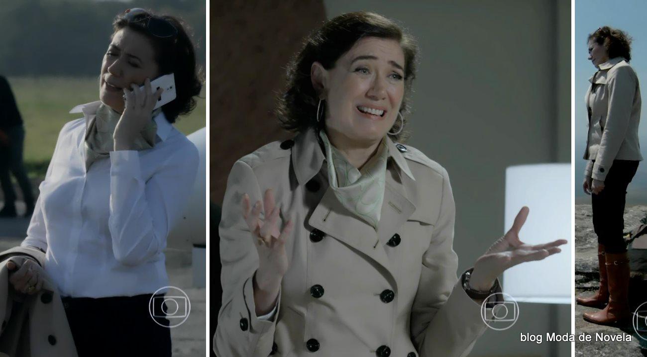 moda da novela Império - look da Maria Marta com óculos escuros dia 24 de setembro