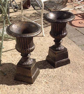 Metal garden urns £58.00 each pair available