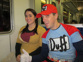 Duffman likes trains! Oh yeah!