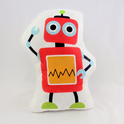 Mr Fox Robots Bedding - Robot Cushion