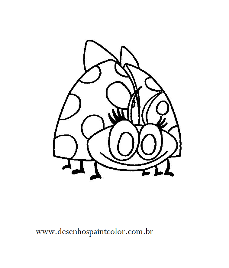 desenho de joaninha para imprimir e colorir gratuitamente aqui no