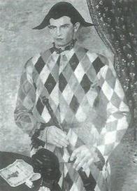 arlecchino (nino franchina) in un ritratto di gino severini