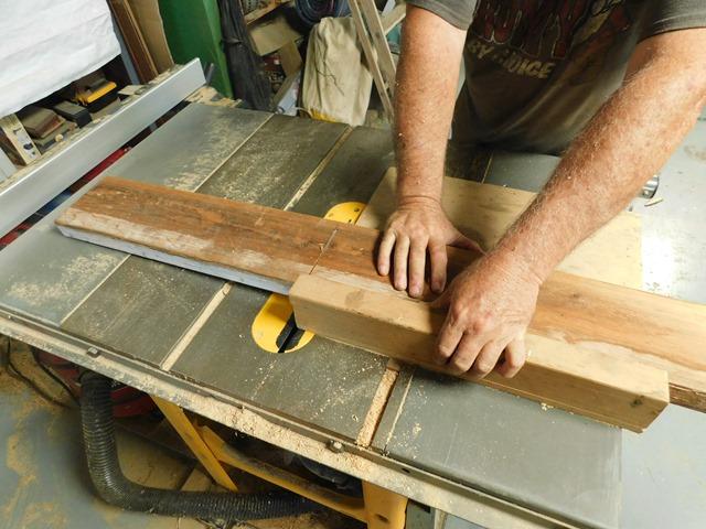 cutting wood for base leg