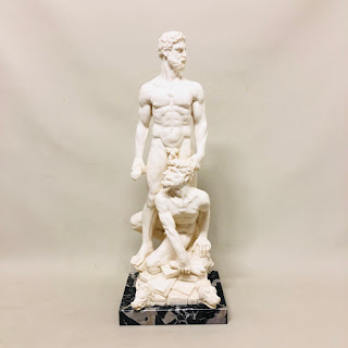 Hercules & Cacus Reproduction Statue by G. Ruggeri