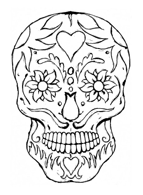 Day Of The Dead Dia De Los Muertos Sugar Skull Coloring Pages Colouring  Adult Detailed Advanced Printable Kleuren Voor Volwassenen Coloriage Pour  Adulte