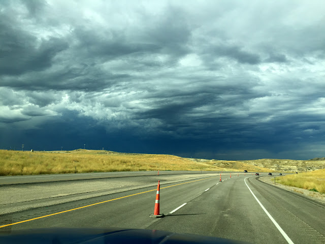 About 1/2 way from Buffalo to Gillette, Wyoming near Dry Creek Rd on Interstate 90 August 12, 2015.