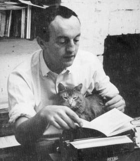 Frank O'Hara and a cat