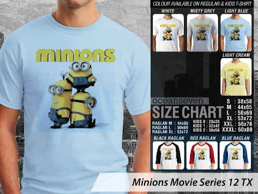 Kaos Kartun Minions Movie Series 12 distro ocean seven