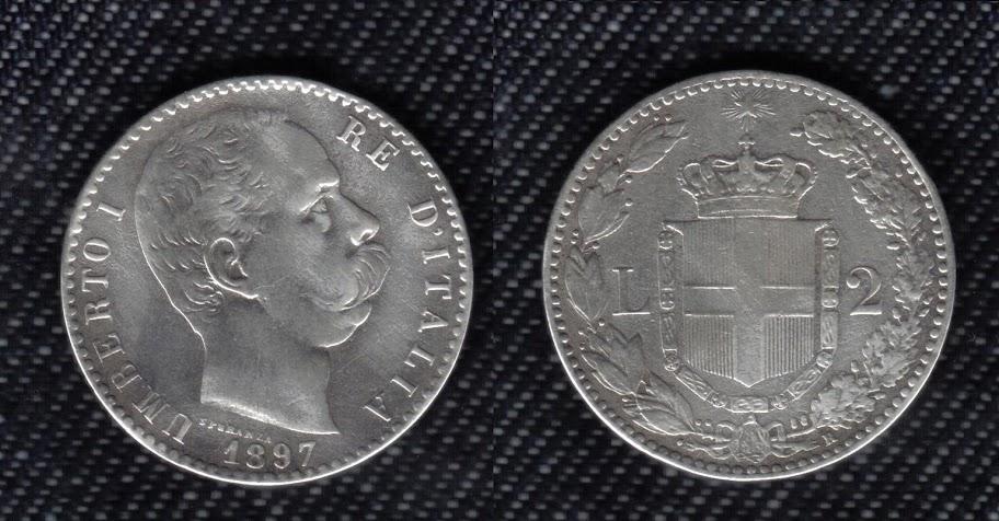 Mi colección de monedas italianas. 2%20liras%201897