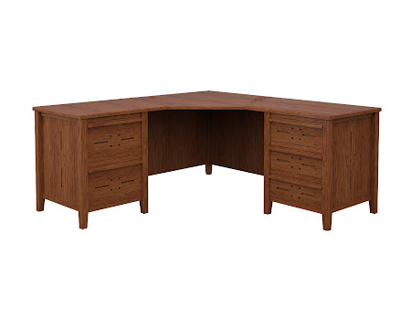 Florence L-Shaped Desk in Old Master Quarter Sawn Oak