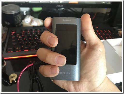 IMG 1570 thumb%25255B2%25255D - 【MP3プレイヤー搭載MOD】Joyetech OCUKAR Cレビュー!電話の代わりにVAPEを搭載した新時代MOD!タッチパネルは新時代のブームとなりうるか?【ガジェット風/万歩計/カレンダー】