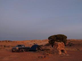 Camp at Garvin's Chimney