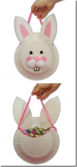 manualidades platos conejos de pascua