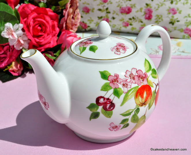 Eden Pattern Fine Bone China Teapot