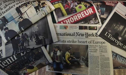 Terror newspapers france belgium