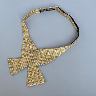 Hermès Silk Fish Bow Tie