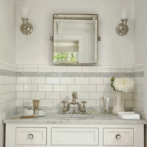 White Subway Tile Bathroom Ideas and Pictures on Bathroom Ideas Subway Tile  id=23110