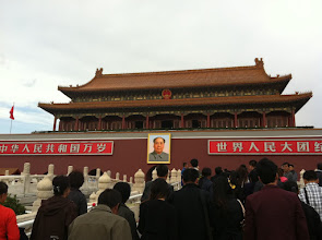 Photo: Heading into the Forbidden City through the Gate of Heavenly Peace