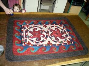 Photo: a majdnem kész szőnyeg