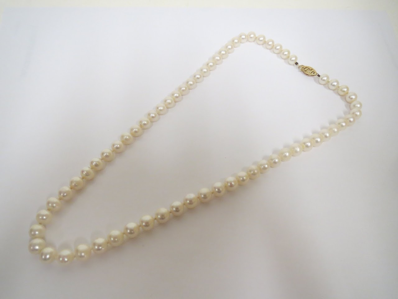 14kt and Pearl Necklace 2