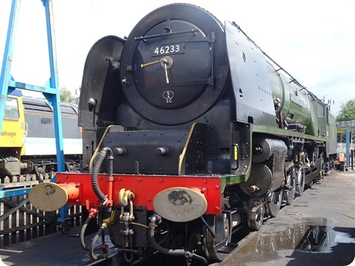 Crewe built steam locomotive 46233  Duchess of Sutherland