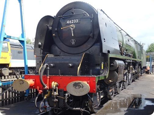 Crewe built steam locomotive 46233  Duchess of Sutherland